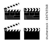 vector movie clapper board set. ... | Shutterstock .eps vector #634765568