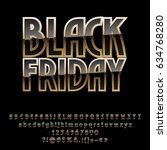 vector goid poster black friday.... | Shutterstock .eps vector #634768280