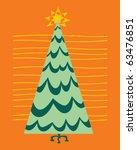 retro christmas tree | Shutterstock .eps vector #63476851