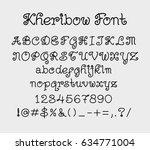 kheribow vector alphabet... | Shutterstock .eps vector #634771004