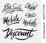 big sale and discount hand... | Shutterstock .eps vector #634771796