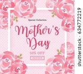 watercolor mother's day... | Shutterstock .eps vector #634772219
