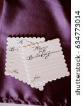 bride and groom advice cards   Shutterstock . vector #634773014