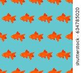 goldfish seamless pattern ... | Shutterstock .eps vector #634785020
