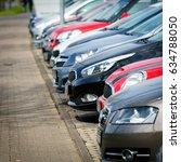 Cars For Sale. Car sales, market place - stock photo