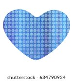 heart father's day blue icon | Shutterstock .eps vector #634790924