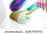 abstract architectural interior ... | Shutterstock . vector #634795970