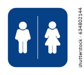 toilet sign. man and lady icon. ...   Shutterstock .eps vector #634802144