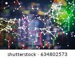 stock market digital graph...   Shutterstock . vector #634802573
