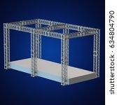 steel truss girder rooftop... | Shutterstock . vector #634804790