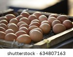 eggs over a stove | Shutterstock . vector #634807163