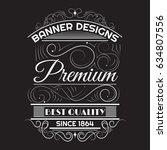 vintage background label style... | Shutterstock .eps vector #634807556