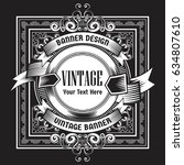 Stock vector vintage background label style design template vector illustration 634807610
