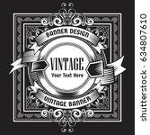 vintage background label style... | Shutterstock .eps vector #634807610