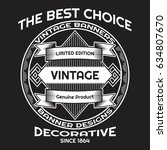 vintage background label style...   Shutterstock .eps vector #634807670