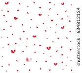 heart seamless pattern... | Shutterstock .eps vector #634812134