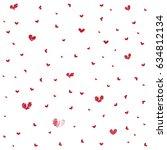 heart seamless pattern... | Shutterstock .eps vector #634812134