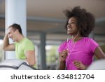 young people exercisinng a... | Shutterstock . vector #634812704
