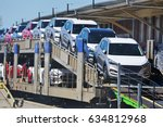 new cars. | Shutterstock . vector #634812968