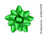 green holiday bow on white... | Shutterstock .eps vector #634814459