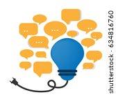 different idea concept.vector... | Shutterstock .eps vector #634816760