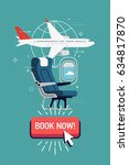 online airline booking vector... | Shutterstock .eps vector #634817870