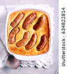 toad in the hole   traditional... | Shutterstock . vector #634822814