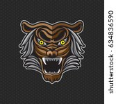 tiger anger. vector... | Shutterstock .eps vector #634836590