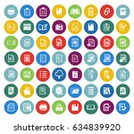 file and folder icons set   Shutterstock .eps vector #634839920