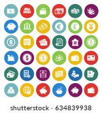 money icons set | Shutterstock .eps vector #634839938
