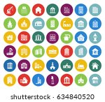 building icons set | Shutterstock .eps vector #634840520