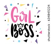 girl boss card vector... | Shutterstock .eps vector #634845224