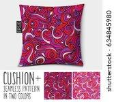 design vector cushion  pillow . ... | Shutterstock .eps vector #634845980