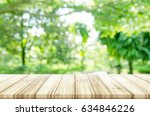 empty wooden table top with... | Shutterstock . vector #634846226