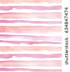 watercolor striped background...   Shutterstock . vector #634847474