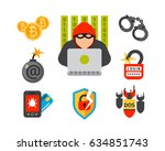 internet security safety icon... | Shutterstock .eps vector #634851743