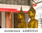 buddha statue in wat phanan... | Shutterstock . vector #634852514
