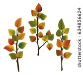 Set Of Three Branches Of...