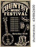 country music festival poster... | Shutterstock .eps vector #634862600
