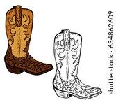 Hand Drawn Cowboy Boots...