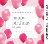 Happy Birthday Card With Pink...