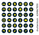 travel and vacation icons set | Shutterstock .eps vector #634867850