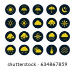 weather icons | Shutterstock .eps vector #634867859