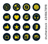 entertainment icons set | Shutterstock .eps vector #634867898