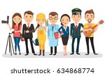 people of different professions.... | Shutterstock .eps vector #634868774