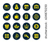 banking icons set | Shutterstock .eps vector #634870250