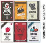 cinema retro posters for movies ... | Shutterstock .eps vector #634878593