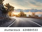 asphalt road. landscape with... | Shutterstock . vector #634884533
