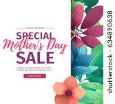template design discount banner ... | Shutterstock .eps vector #634890638