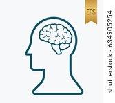 human brain icon. flat isolated ... | Shutterstock .eps vector #634905254